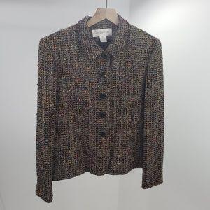 Jones of New York Womens Textured Jacket Size 12